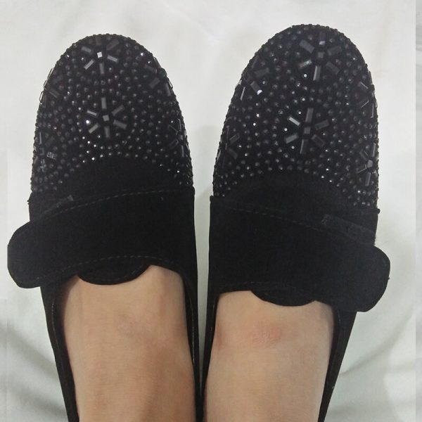 4 Black Shoes With Studs ZS06
