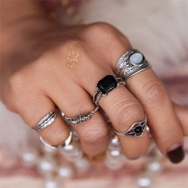 6 PC ring set for women – silver AR23-