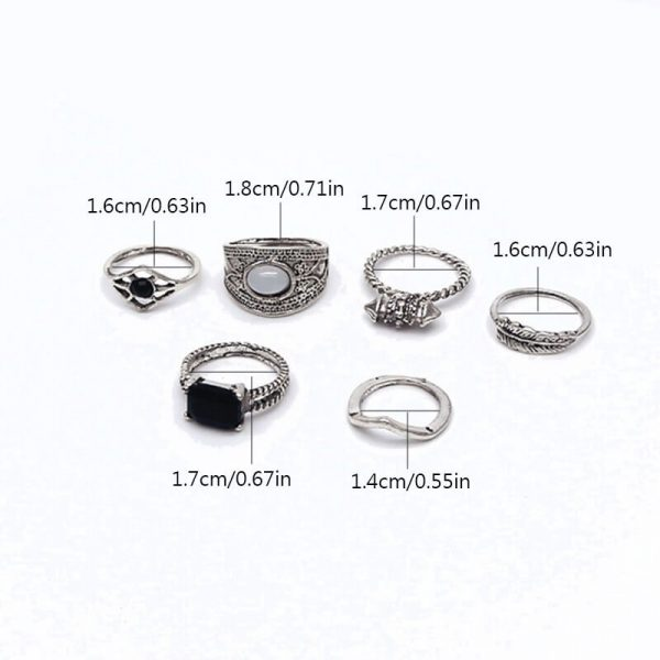 6 PC ring set for women – silver AR23–