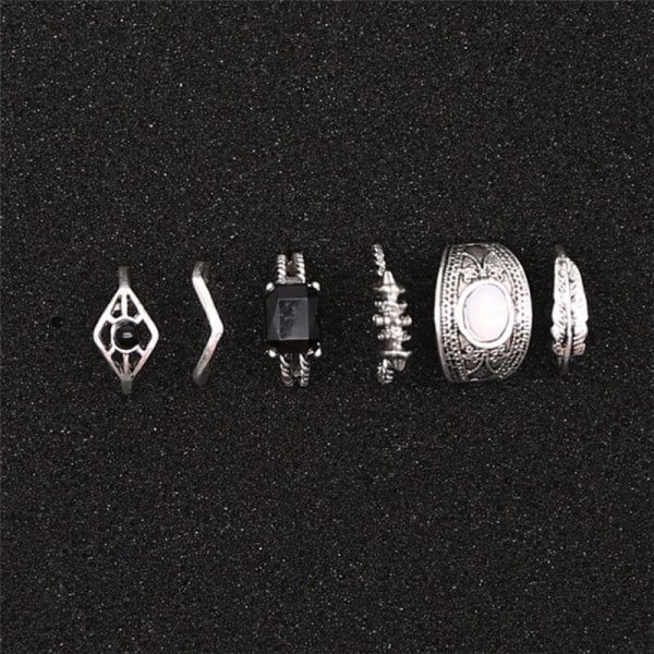6 PC ring set for women – silver AR23-1