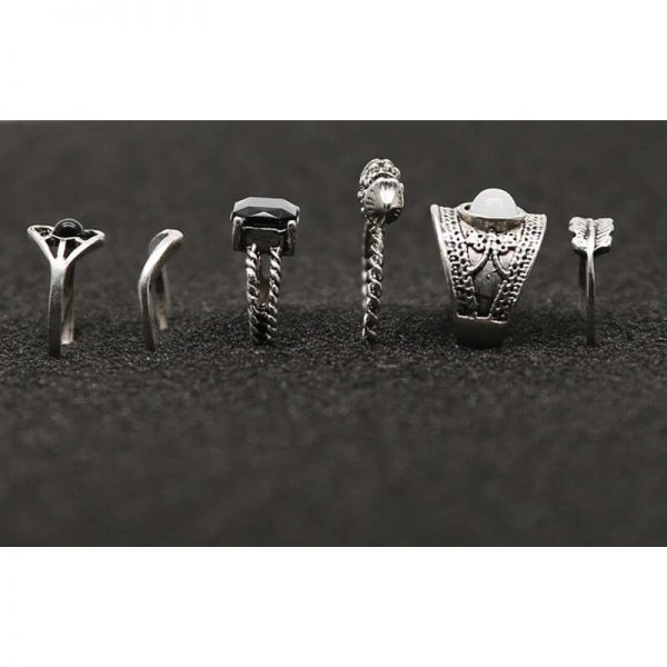 6 PC ring set for women – silver AR23