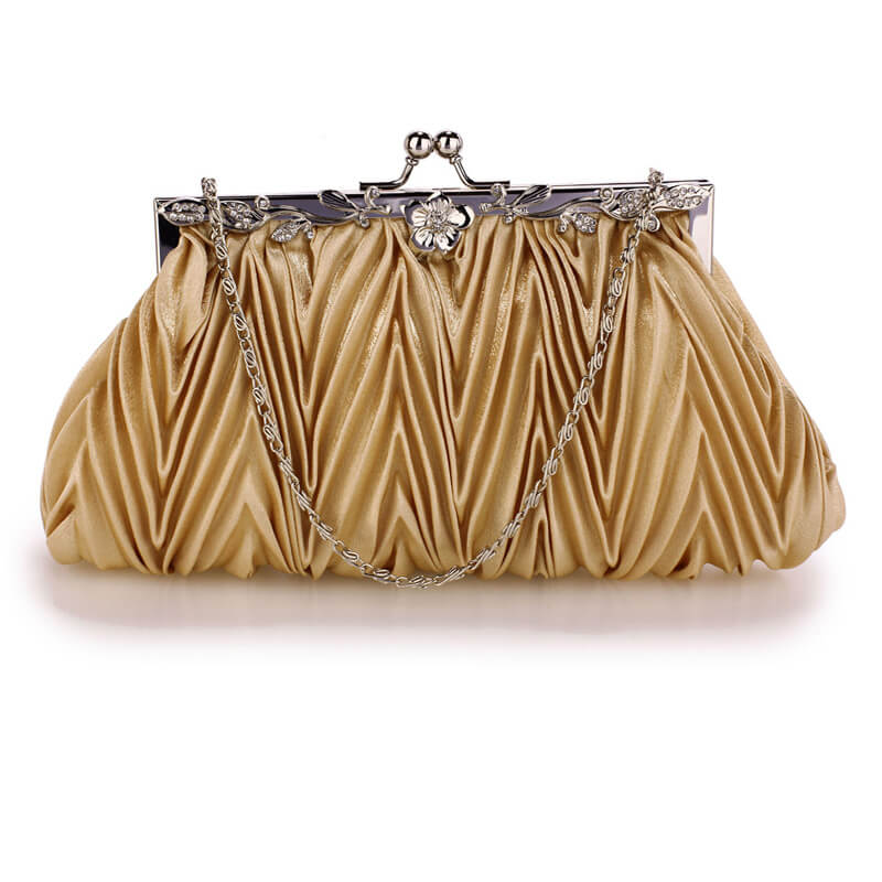 Nude Crystal Evening Clutch Bag