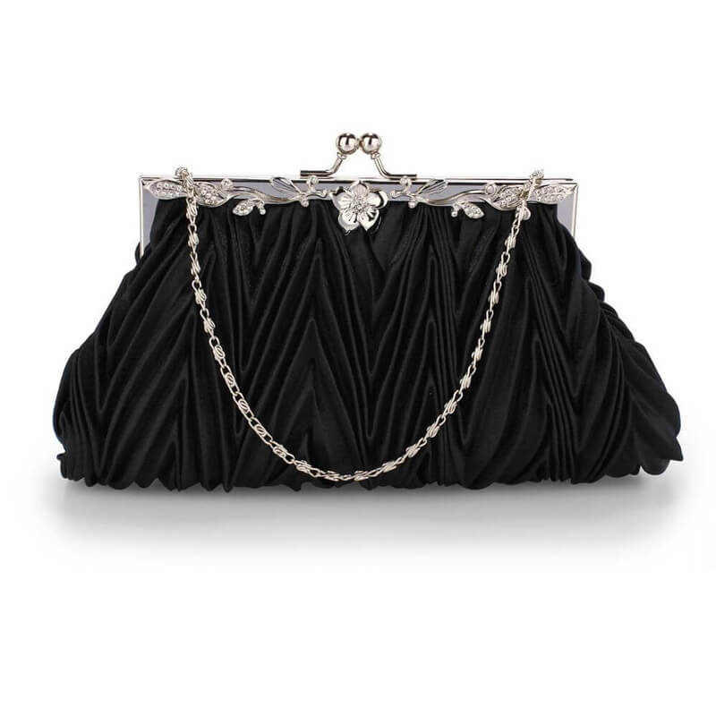 black crystal evening clutch bag