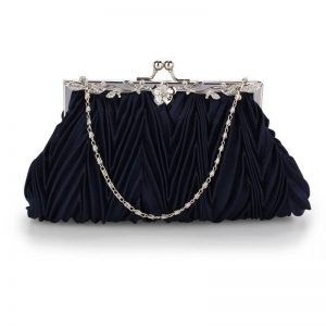navy crystal evening clutch bag