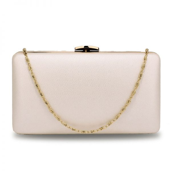 AGC00351 – Ivory Evening Clutch Bag With Gold Metal Work_1_