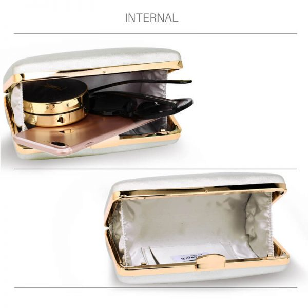 AGC00351 – Silver Evening Clutch Bag With Gold Metal Work_4_