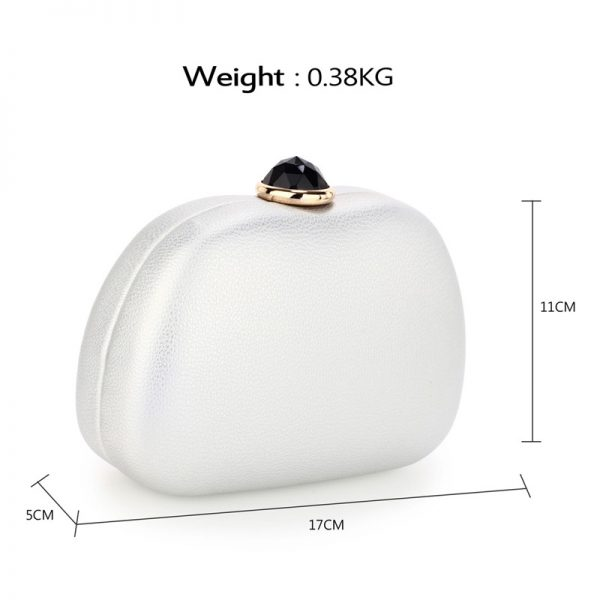 AGC00352 – Silver Hard Case Rhinestone Evening Clutch Bag_2_