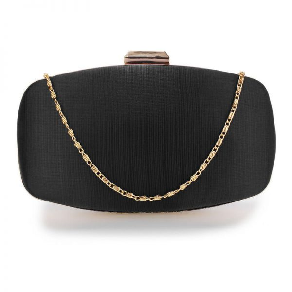AGC00354 – Black Satin Evening Clutch Bag_1_