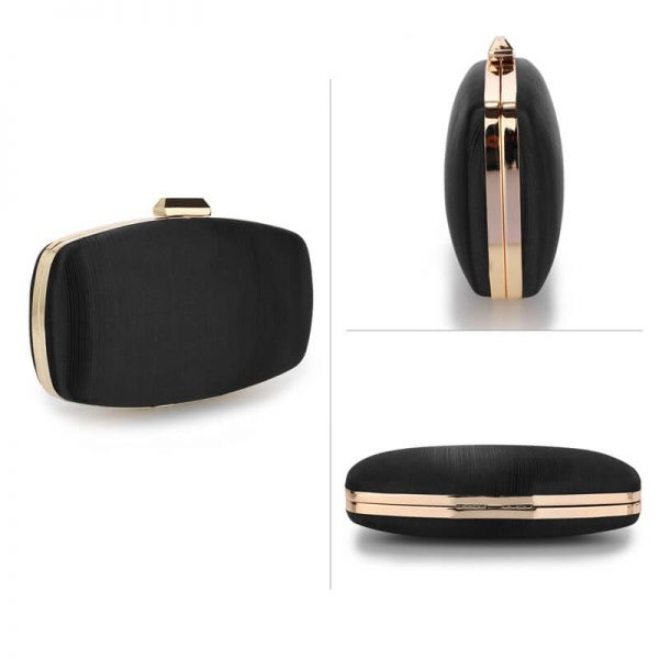 AGC00354 – Black Satin Evening Clutch Bag_3_
