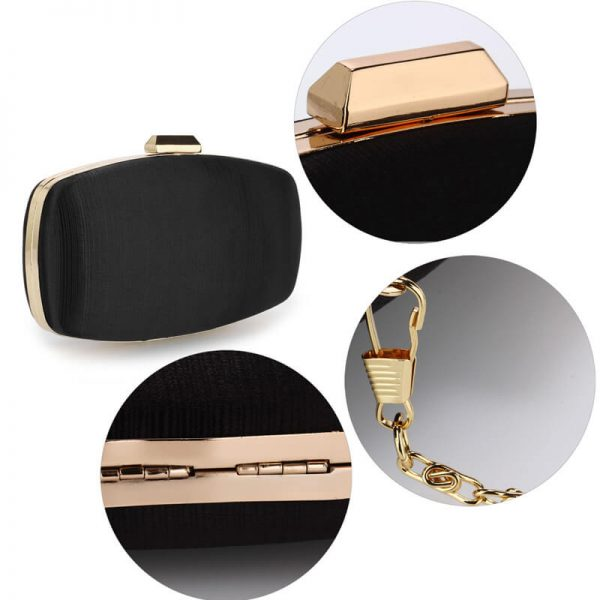 AGC00354 – Black Satin Evening Clutch Bag_5_