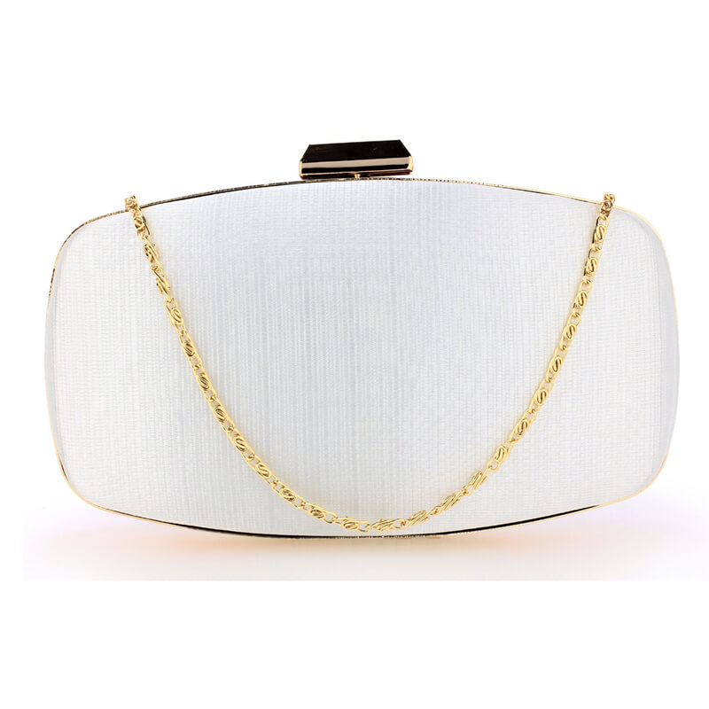Ivory Satin Evening Clutch Bag