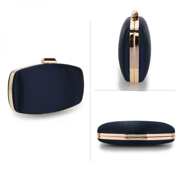 AGC00354 – Navy Satin Evening Clutch Bag_3_