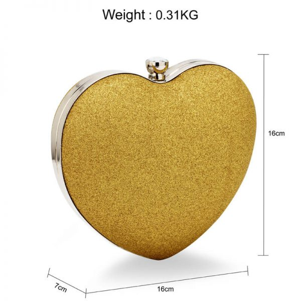 AGC00357 – Gold Glitter Hardcase Heart Clutch Bag_2_