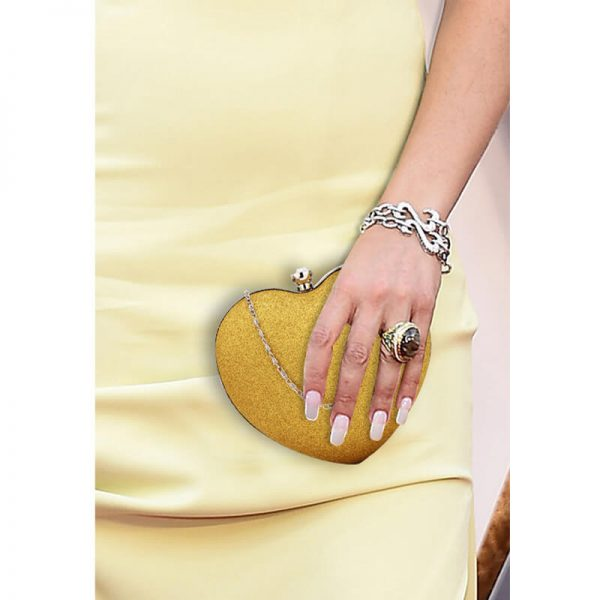 AGC00357 – Gold Glitter Hardcase Heart Clutch Bag_6_