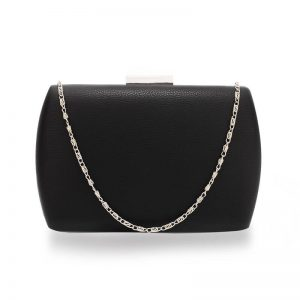 Black Hard Case Evening Clutch Bag