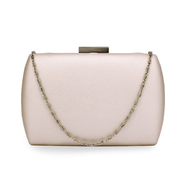 Ivory Hard Case Evening Clutch Bag