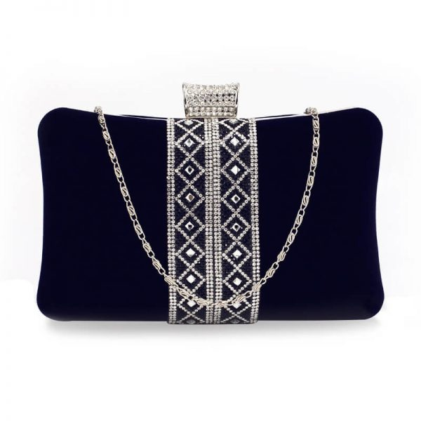 AGC00359 – Navy Sparkly Crystal Evening Clutch Purse_1_