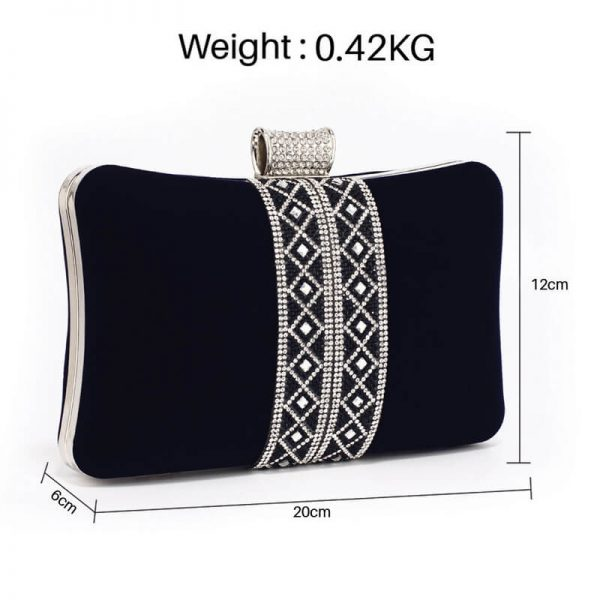 AGC00359 – Navy Sparkly Crystal Evening Clutch Purse_2_