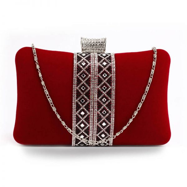 AGC00359 – Red Sparkly Crystal Evening Clutch Purse_1_