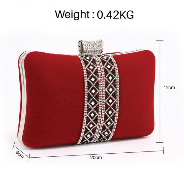 AGC00359 – Red Sparkly Crystal Evening Clutch Purse_2_