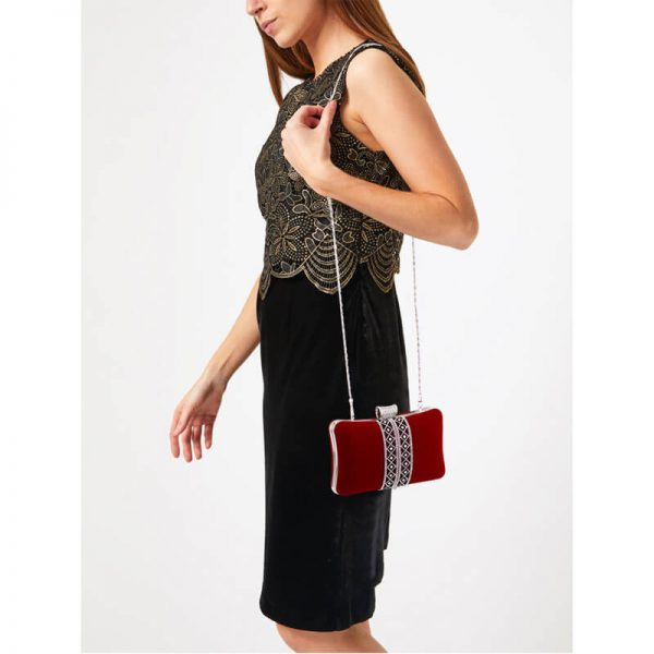 AGC00359 – Red Sparkly Crystal Evening Clutch Purse_6_