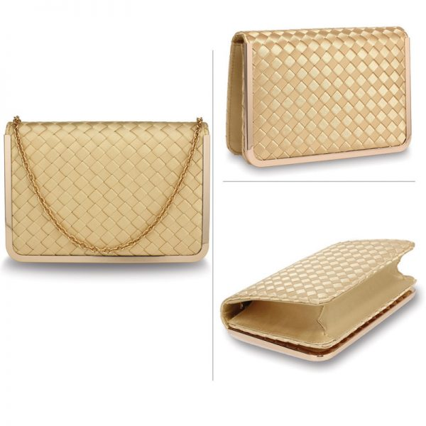 AGC00369 – Gold Flap Evening Clutch Bag_3_