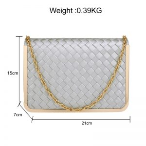 Silver Flap Evening Clutch Bag
