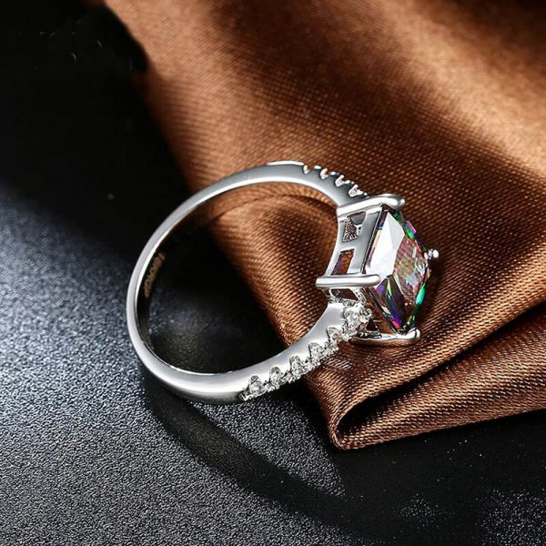 AR29 AAA Zircon Silver Ring With Diamantes and Multi Stone 1