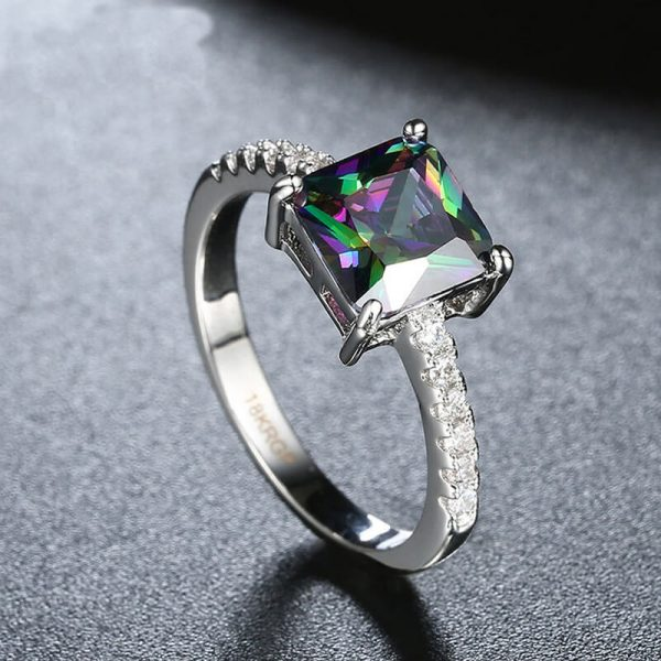 AR29 AAA Zircon Silver Ring With Diamantes and Multi Stone 3
