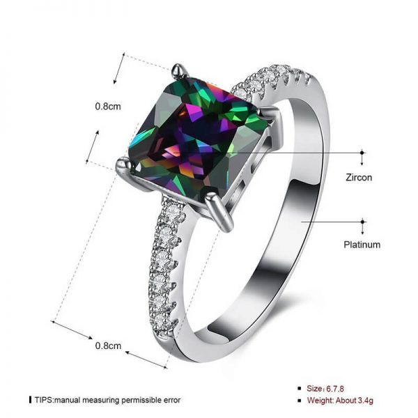 AR29 AAA Zircon Silver Ring With Diamantes and Multi Stone