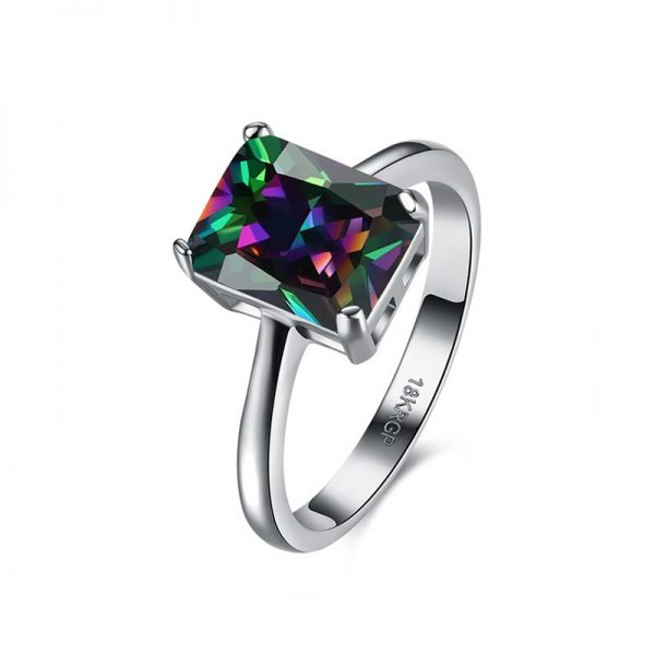 AR30 AAA Zircon Silver Ring For Her Multi Stone 1