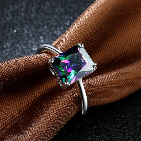 AR30 AAA Zircon Silver Ring For Her Multi Stone 2