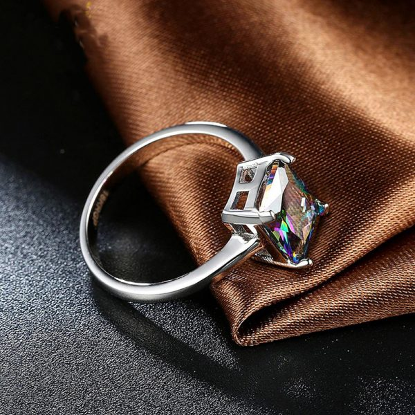 AR30 AAA Zircon Silver Ring For Her Multi Stone 3