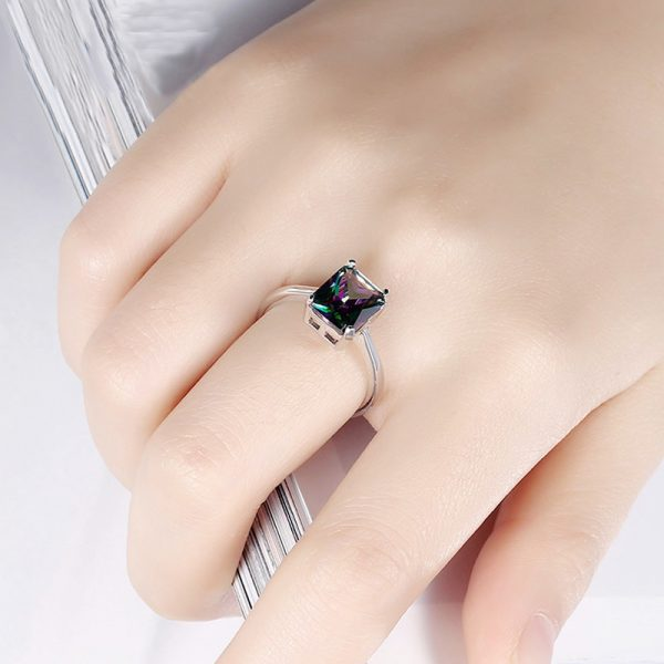 AR30 AAA Zircon Silver Ring For Her Multi Stone 4