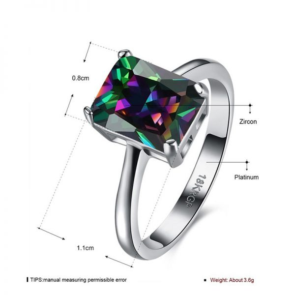 AR30 AAA Zircon Silver Ring For Her Multi Stone