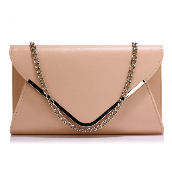 LSE00166C – Nude Large Flap Clutch Purse_1_