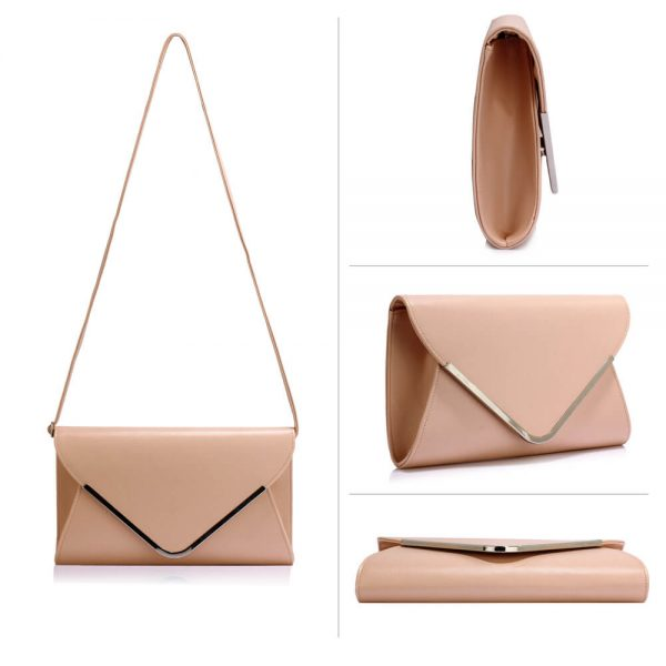 LSE00166C – Nude Large Flap Clutch Purse_3_