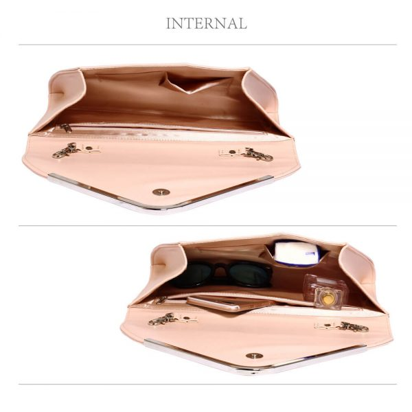 LSE00166C – Nude Large Flap Clutch Purse_4_