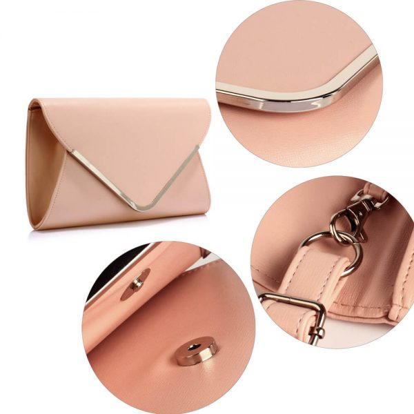 LSE00166C – Nude Large Flap Clutch Purse_5_
