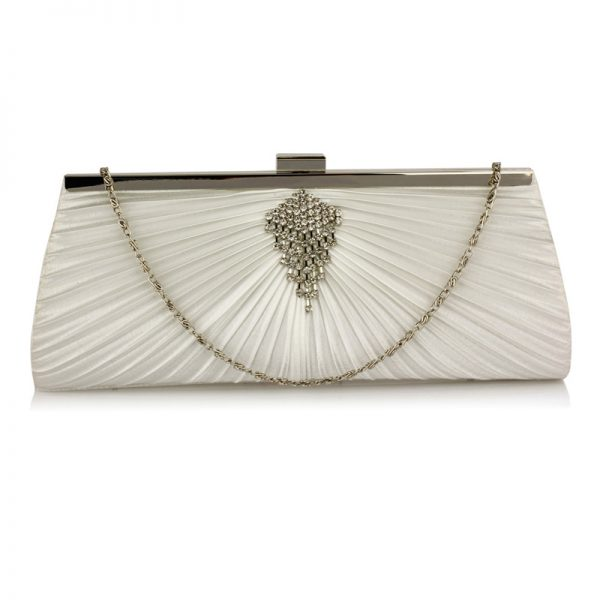 LSE00221 – Ivory Satin Clutch Bag With Crystal Decoration_-1_1_