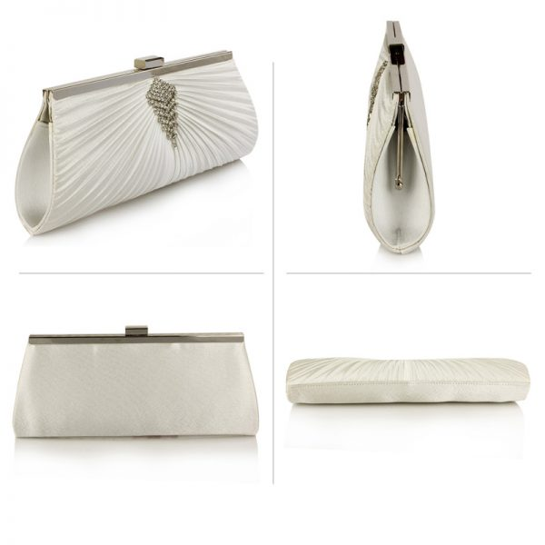 LSE00221 – Ivory Satin Clutch Bag With Crystal Decoration_3_
