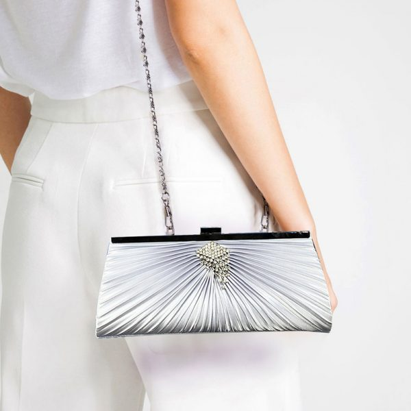 LSE00221 – Ivory Satin Clutch Bag With Crystal Decoration_6_