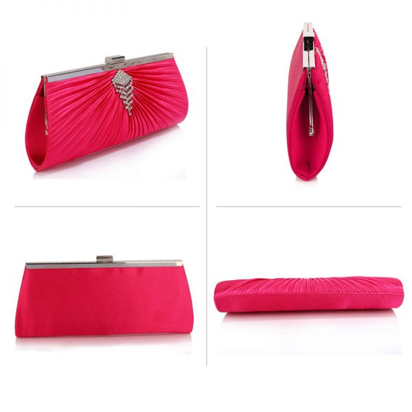 LSE00221 – Pink Satin Clutch Bag With Crystal Decoration_3_ (1)