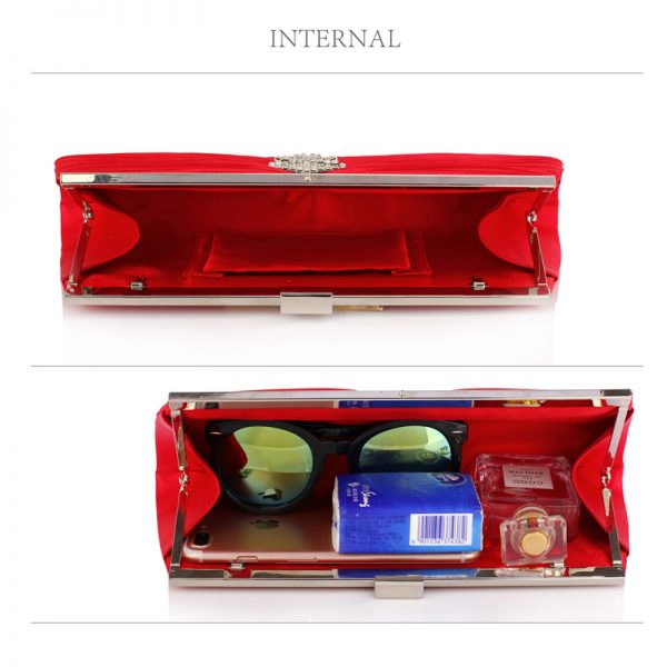 LSE00221 – Red Satin Clutch Bag With Crystal Decoration_4_