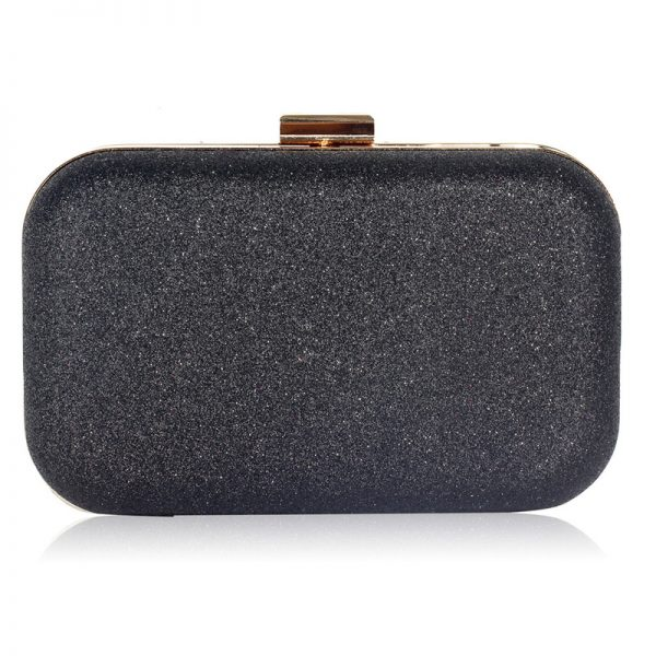 LSE00256 – Black Glitter Clutch Bag_1_