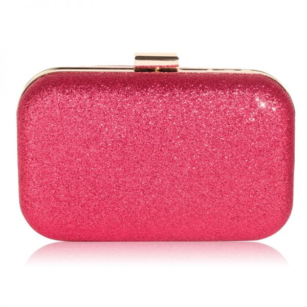 LSE00256 – Fuchsia Glitter Clutch Bag_1_
