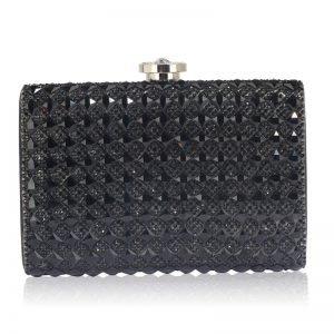 Black Diamante Clutch purs