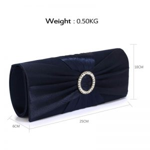 518e2af285d4 Navy Sparkly Crystal Satin Evening Bag Navy Sparkly Crystal Satin Evening  Bag