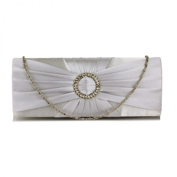 LSE00269 – Silver Sparkly Crystal Satin Evening Bag_1_