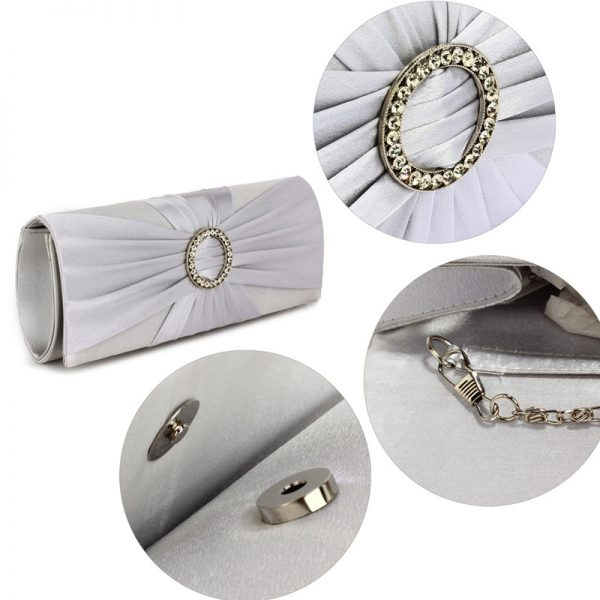 LSE00269 – Silver Sparkly Crystal Satin Evening Bag_5_